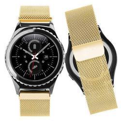 Okosóra szíj - rozsdamentes acél, mágneses - ARANY  - HUAWEI Watch 2