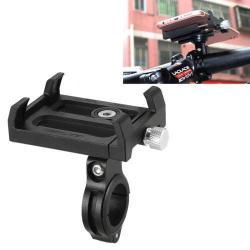 GUB Plus telefon tartó kerékpár / bicikli - FEKETE - UNIVERZÁLIS - elforgatható - 60-100mm-ig nyíló bölcsővel