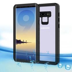 Vízhatlan / vízálló tok - nyakba akasztható, 2m-ig vízálló - FEKETE / ÁTLÁTSZÓ - SAMSUNG Galaxy Note9
