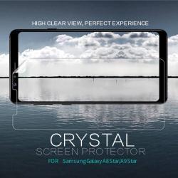 NILLKIN képernyővédő fólia - Crystal Clear - 1db, törlőkendővel - SAMSUNG Galaxy A8 Star / SAMSUNG Galaxy A9 Star - GYÁRI