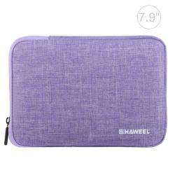 HAWEEL Tablet / Laptop UNIVERZÁLIS tok / táska - LILA - Szövet, bársony belső, 2 különálló zsebbel, ütődésálló, vízálló - ERŐS VÉDELEM! - 21 x 14,5 x 2 cm