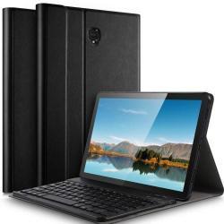 Notesz / mappa tok - FEKETE - oldalra nyíló, mágneses záródás, asztali tartó funkció, kivehető bluetooth billentyűzet (ANGOL KIOSZTÁSÚ!) - SAMSUNG SM-T830 Galaxy Tab S4 10.5 (Wi-Fi) / SAMSUNG SM-T835 Galaxy Tab S4 10.5 (LTE)