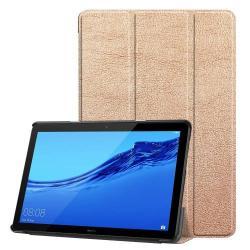 Notesz / mappa tok - ROSE GOLD - oldalra nyíló flip cover, TRIFOLD asztali tartó funkciós, mágneses záródás - HUAWEI MediaPad T5 10