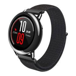 Okosóra szíj - szövet, tépőzáras - FEKETE - SAMSUNG Galaxy Watch 46mm / SAMSUNG Gear S3 Classic / SAMSUNG Gear S3 Frontier