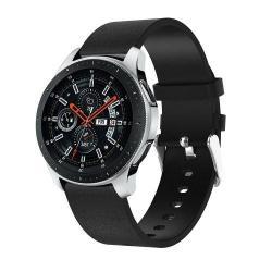 Okosóra szíj - FEKETE - valódi bőr, 127 + 87mm hosszú - SAMSUNG Galaxy Watch 46mm / SAMSUNG Gear S3 Classic / SAMSUNG Gear S3 Frontier