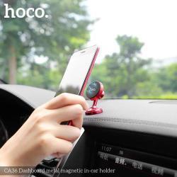HOCO Magnetic autós / gépkocsi tartó - mágneses, műszerfalra rögzíthető, 360°-ban elforgatható - PIROS - GYÁRI