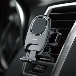 BASEUS Xiaochun Magnetic autós / gépkocsi tartó - mágneses, szellőzőrácsra rögzíthető - FEKETE - GYÁRI