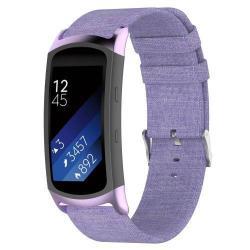 Okosóra szíj - szövet - LILA - SAMSUNG Gear Fit 2 SM-R360 / Samsung Gear Fit 2 Pro SM-R365