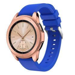Okosóra szíj - szilikon, Twill mintás - VILÁGOSKÉK - 130mm + 85mm hosszú, 20mm széles, max 225mm-es csuklóra - SAMSUNG SM-R810NZ Galaxy Watch 42mm