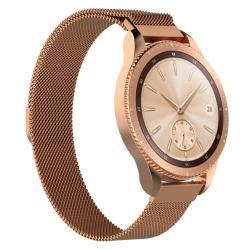 Okosóra szíj - rozsdamentes acél, mágneses - ROSE GOLD - 205 mm hosszú, 17 mm széles - SAMSUNG Galaxy Watch 42mm