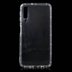 Szilikon védő tok / hátlap - FÉNYES - ÁTLÁTSZÓ - SAMSUNG SM-A750F Galaxy A7 (2018)