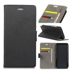 Notesz tok / flip tok - FEKETE - asztali tartó funkciós, oldalra nyíló, rejtett mágneses záródás, bankkártyatartó zseb, szilikon belső - Doogee X60L