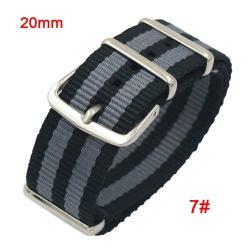 Okosóra szíj - szövet, 20mm széles - FEKETE / SZÜRKE - TELESZKÓP NÉLKÜLI, PULZUSMÉRŐ NEM HASZNÁLHATÓ VELE! - SAMSUNG SM-R600 Galaxy Gear Sport / SAMSUNG SM-R810NZ Galaxy Watch 42mm / SAMSUNG SM-R720 Gear S2 Classic