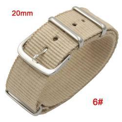 Okosóra szíj - szövet, 20mm széles - BÉZS - SAMSUNG SM-R600 Galaxy Gear Sport / SAMSUNG SM-R810NZ Galaxy Watch 42mm / SAMSUNG SM-R720 Gear S2 Classic