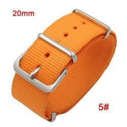 Okosóra szíj - szövet, 20mm széles - NARANCS - SAMSUNG SM-R600 Galaxy Gear Sport / SAMSUNG SM-R810NZ Galaxy Watch 42mm / SAMSUNG SM-R720 Gear S2 Classic