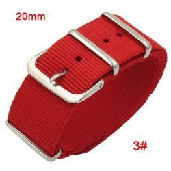 Okosóra szíj - szövet, 20mm széles - PIROS - TELESZKÓP NÉLKÜLI, PULZUSMÉRŐ NEM HASZNÁLHATÓ VELE! - SAMSUNG SM-R600 Galaxy Gear Sport / SAMSUNG SM-R810NZ Galaxy Watch 42mm / SAMSUNG SM-R720 Gear S2 Classic