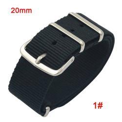Okosóra szíj - szövet, 20mm széles - FEKETE - SAMSUNG SM-R600 Galaxy Gear Sport / SAMSUNG SM-R810NZ Galaxy Watch 42mm / SAMSUNG SM-R720 Gear S2 Classic