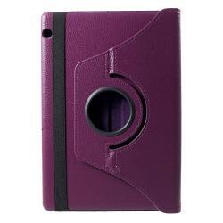 Notesz tok / mappa tok - LILA - gumis záródás, asztali tartó funkcióval, 360°-ban elforgatható, műanyag belső - HUAWEI MediaPad T5 10