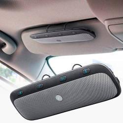 BLUETOOTH kihangosító szett - napellenzőre rögzíthető, hordozható, Bluetooth 3.0+EDR, beépített mikrofon, egyszerre 2 különböző telefonnal használható! - FEKETE