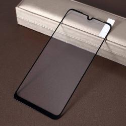 Előlap védő karcálló edzett üveg, TELJES KIJELZŐT VÉDI! - FEKETE - 9H, Arc Edge, A teljes felületén tapad! - Xiaomi Redmi Note 7 / Xiaomi Redmi Note 7 Pro