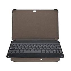 SAMSUNG tok álló, bõr - BKC-1B1 - GYÁRI - (mágneses, QWERTY angol bluetooth billentyûzet) Flip, FEKETE - SAMSUNG P7500 Galaxy Tab 10.1/SAMSUNG P7510 Galaxy Tab 10.1