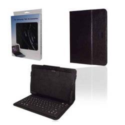 Tok álló, bõr (mágneses, bluetooth billentyûzet) Flip, FEKETE - SAMSUNG P7100 Galaxy Tab 10.1v