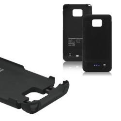 POWER CASE műanyag védő tok / hátlap - beépített 2200 mAh EXTRA akkuval! - FEKETE - SAMSUNG GT-I9100 Galaxy S II