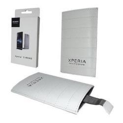 SONY tok álló, bőr (kihúzó pánttal) FEHÉR - SONY Xperia S (LT26i)/Arc (LT15i)/Arc S (LT18i) készülékekhez - GYÁRI