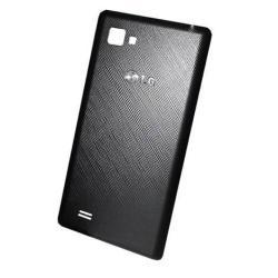 Akkufedél - LG P880 Optimus 4X HD - FEKETE - GYÁRI