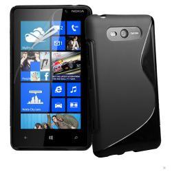 NOKIA Lumia 820EXKLUZÍV telefonvédő gumi  szilikon tok (FÉNYESMATT) - FEKETE - NOKIA Lumia 820
