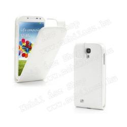 SAMSUNG Galaxy S IV. VE (GT-I9515)Tok álló, bőr, Flip - Rejtett mágneses záródás - FEHÉR - SAMSUNG GT-I9500 Galaxy S IV.
