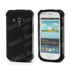 SAMSUNG Galaxy S III mini VE (GT-I8200)Mûanyag védõ tok  hátlap - szilikon betéttel - Defender - SAMSUNG GT-I8190 Galaxy S III. mini - FEKETE  FEKETE