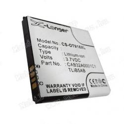 Akku 1650 mAh LI-ION - ALCATEL CAB31P0000C1 kompatibilis