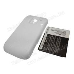 Akku 3100 mAh LI-ION + FEHÉR akkufedéllel - SAMSUNG EB425161LU kompatibilis - EXTRA KAPACITÁS! - SAMSUNG GT-I8160 Galaxy Ace 2