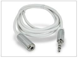 3,5 mm sztereó jack hosszabító kábel 150 cm-es vezetékkel - fehér