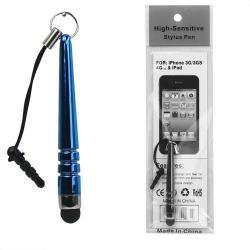 Érintőképernyő ceruza - mini, 3,5 jack csatlakozóba illeszthető, kapacitív kijelzőhöz - SÖTÉTKÉK