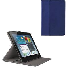BELKIN Flip / Mappa tok - álló, bőr, asztali tartó funkciós - MULTITASKER - KÉK - SAMSUNG P5200 / P5210 Galaxy Tab 3 10.1 - F7P124VFC01 - GYÁRI