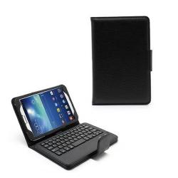 Flip / mappa bõrtok - mágneses záródás, bluetooth billentyûzet - FEKETE - SAMSUNG SM-T310 / T311 Galaxy Tab 3 8.0