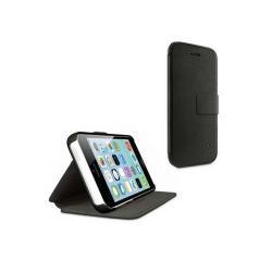 BELKIN WALLET FOLIO WITH STAND műanyag védő tok / hátlap - F8W378B1C00 - oldalra nyíló flip, kitámasztható, rejtett mágneses zárófül - FEKETE - APPLE IPhone 5C - GYÁRI