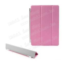 APPLE iPad Air (2013)SMART Case előlap védő, asztali kitámasztó funkció - RÓZSASZÍN - APPLE IPAD Air
