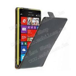 NOKIA Lumia 1520SLIM Flip tok - lefelé nyíló, rejtett mágneses záródás - FEKETE - NOKIA Lumia 1520