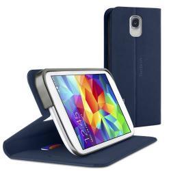 BELKIN CLASSIC FOLIO BASIC notesz tok - oldalra nyíló flip, asztali tartó funkció, bankkártya méretű tartós - SÖTÉTKÉK - F8M921B1C01 - GYÁRI - SAMSUNG SM-G900F Galaxy S5