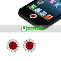 Home gomb dísz - strassz kõvel, 2db - APPLE iPhone 3G/3GS/4/4S/5  IPAD / IPAD 2 / IPAD (3rd Generation) / IPAD 4th Generation) - PIROS