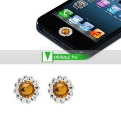 Home gomb dísz - strassz kõvel, 2db - APPLE iPhone 3G/3GS/4/4S/5  IPAD / IPAD 2 / IPAD (3rd Generation) / IPAD 4th Generation) - NARANCS