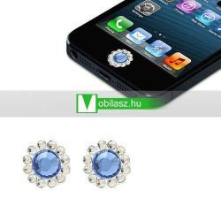 Home gomb dísz - strassz kõvel, 2db - APPLE iPhone 3G/3GS/4/4S/5  IPAD / IPAD 2 / IPAD (3rd Generation) / IPAD 4th Generation) - BABAKÉK