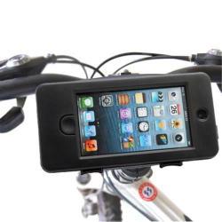 APPLE iPhone 5 telefon tartó kerékpár / biciklire szerelhetõ - vízálló - FEKETE