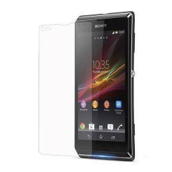 SONY Xperia L képernyővédő fólia - Clear - 1db, törlőkendővel - Utángyártott