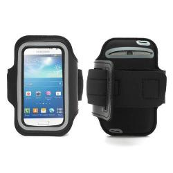 SPORT KARPÁNT tok - álló, karra rögzíthetõ, sportoláshoz - FEKETE / SZÜRKE - SAMSUNG GT-I9190/I9192/I9195 Galaxy S IV. mini méret