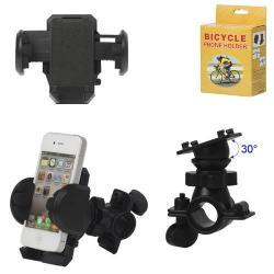 Telefon tartó kerékpár / bicikli UNIVERZÁLIS - elforgatható - 50-120 mm-ig nyíló bölcsővel