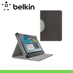 BELKIN LAPSTAND mappa / notesz tok - asztali tartó funkció, állítható dőlésszög - F7P118VFC00 - SZÜRKE - SAMSUNG P5200 / P5210 Galaxy Tab 3 10.1 - GYÁRI